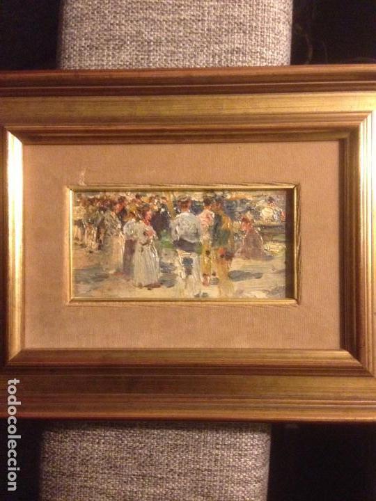 ROIG SOLER, JOAN, PINTURA AL ÓLEO SOBRE TABLA, PROCEDE DE LA PINACOTECA (Arte - Pintura - Pintura al Óleo Moderna siglo XIX)