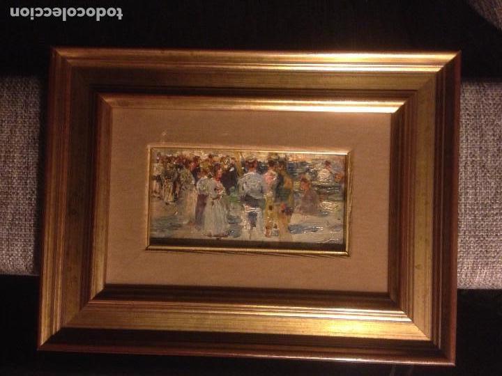 Arte: Roig Soler, Joan, pintura al óleo sobre tabla, procede de La Pinacoteca - Foto 4 - 103385471