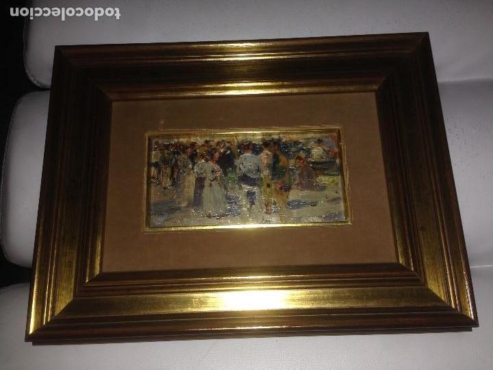Arte: Roig Soler, Joan, pintura al óleo sobre tabla, procede de La Pinacoteca - Foto 6 - 103385471