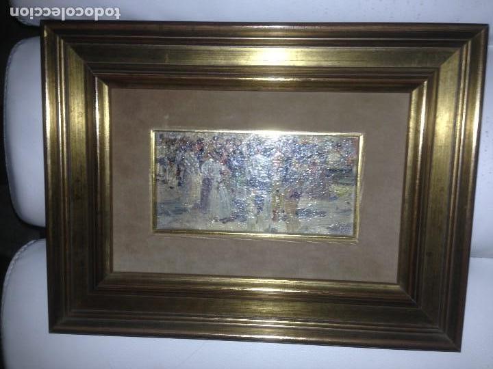 Arte: Roig Soler, Joan, pintura al óleo sobre tabla, procede de La Pinacoteca - Foto 9 - 103385471