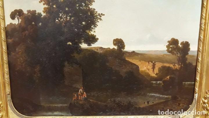 Arte: óleo paisaje europeo posiblemente finales del XVIII principio del XIX España, Italia o Francia - Foto 2 - 103403031