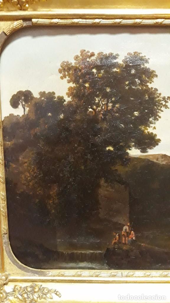 Arte: óleo paisaje europeo posiblemente finales del XVIII principio del XIX España, Italia o Francia - Foto 3 - 103403031