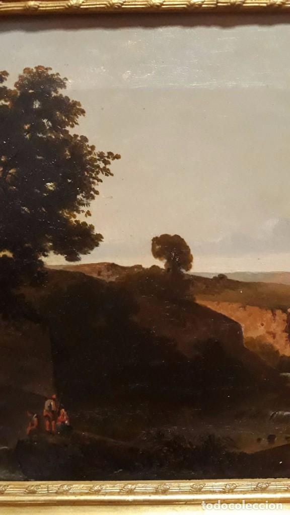 Arte: óleo paisaje europeo posiblemente finales del XVIII principio del XIX España, Italia o Francia - Foto 4 - 103403031