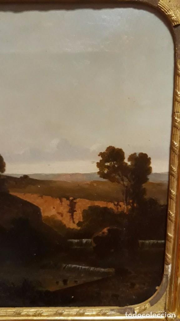 Arte: óleo paisaje europeo posiblemente finales del XVIII principio del XIX España, Italia o Francia - Foto 5 - 103403031