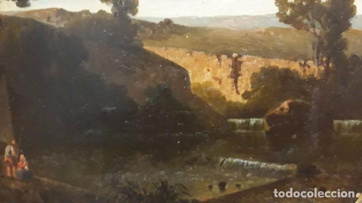 Arte: óleo paisaje europeo posiblemente finales del XVIII principio del XIX España, Italia o Francia - Foto 6 - 103403031