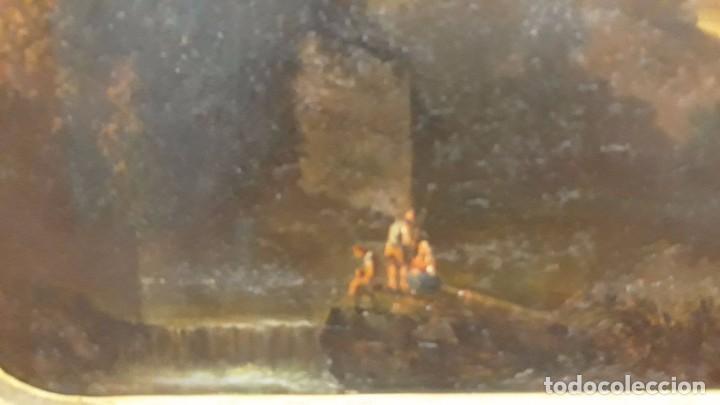 Arte: óleo paisaje europeo posiblemente finales del XVIII principio del XIX España, Italia o Francia - Foto 7 - 103403031