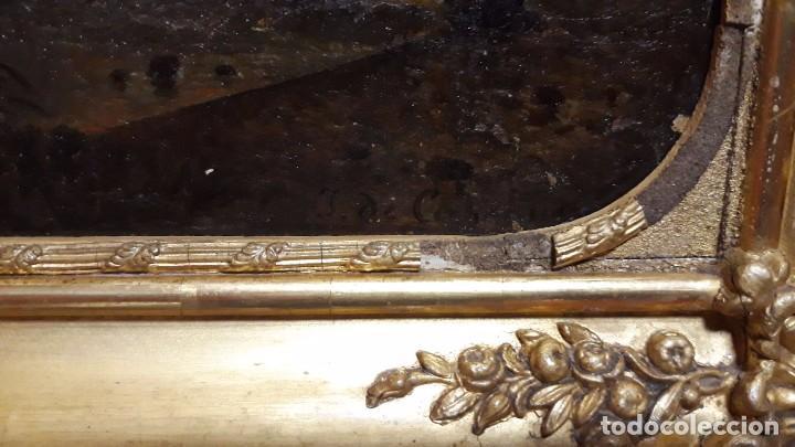 Arte: óleo paisaje europeo posiblemente finales del XVIII principio del XIX España, Italia o Francia - Foto 8 - 103403031