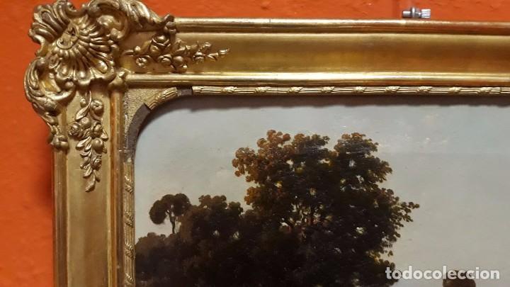 Arte: óleo paisaje europeo posiblemente finales del XVIII principio del XIX España, Italia o Francia - Foto 10 - 103403031