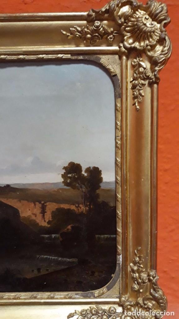 Arte: óleo paisaje europeo posiblemente finales del XVIII principio del XIX España, Italia o Francia - Foto 11 - 103403031