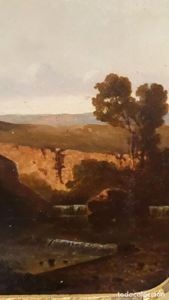 Arte: óleo paisaje europeo posiblemente finales del XVIII principio del XIX España, Italia o Francia - Foto 12 - 103403031