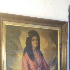 Arte: CUADRO GITANA FIRMADO HUETOS AÑOS 60. MARCO EN MADERA MEDIDAS 60 X 48. Lote 103415844