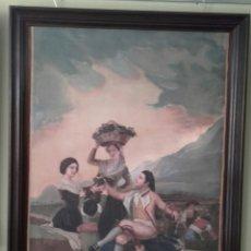 Arte: LA VENDIMIA O EL OTOÑO ( SEGUN GOYA) O/L CON FIRMA ILEGIBLE, DEL PPS DEL SIGLO XX. Lote 103420963