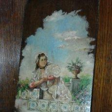 Arte - linda tabla maja óleo sobre tabla XIX - 103436407