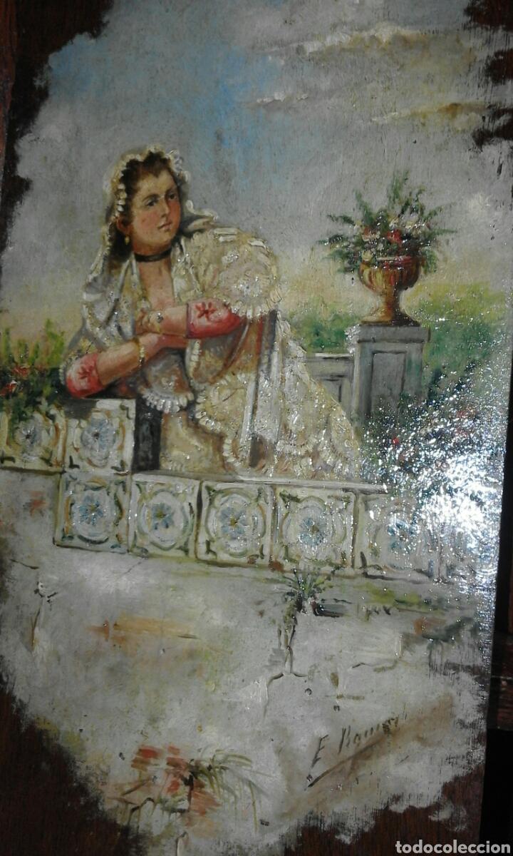 Arte: linda tabla maja óleo sobre tabla XIX - Foto 2 - 103436407