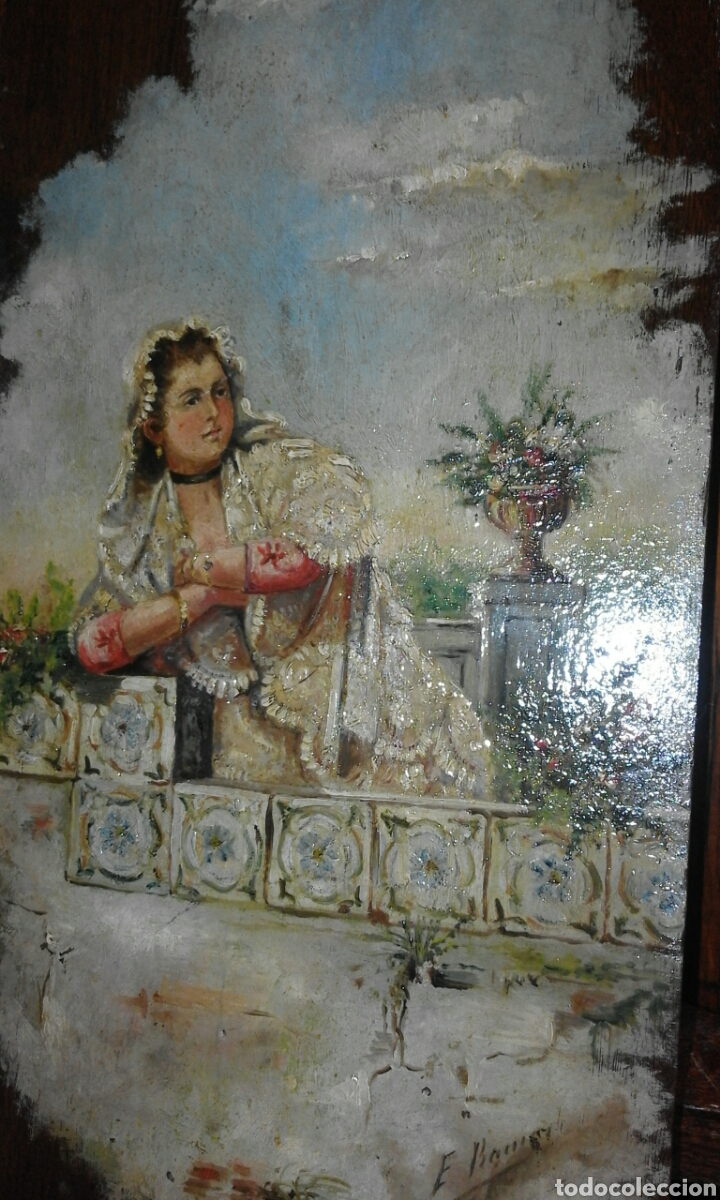 Arte: linda tabla maja óleo sobre tabla XIX - Foto 5 - 103436407