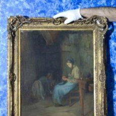 Arte: CUADRO OLEO PINTURA FRANCESA XIX FIRMADA CON OBRA EN MUSEOS.. Lote 103466743