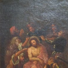 Arte: CUADRO OLEO PINTURA RELIGIOSA CORONACION DE ESPINAS SIGLO XVII. Lote 103554491