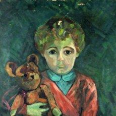 Kunst - RETRATO DE NIÑO. PINTURA. ÓLEO SOBRE LIENZO. FIRMADO. ESPAÑA. CIRCA 1950 - 103592851