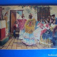Arte: (ANT-171134)OLEO SOBRE TABLA ESCENA ANDALUZA - FIRMADO RUBIO (SEVILLA). Lote 103664935