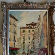 Arte: OLEO ARCO DE CUCHILLEROS. VICENTE ANTONA. Lote 103667935