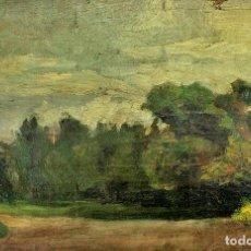 Arte: CAMINO EN EL BOSQUE. ÓLEO SOBRE LIENZO. ANÓNIMO. ESCUELA CATALANA. ESPAÑA. FIN XIX. Lote 103701223
