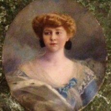 Arte: RETRATO DE DAMA POR BASILE LEMEUNIER (FRANCIA 1852-1922). Lote 103734731