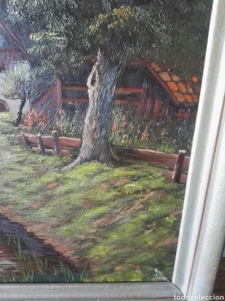 Arte: Cuadro pintura antigua oleo sobre lienzo firma ilegible alemania - Foto 6 - 103773556