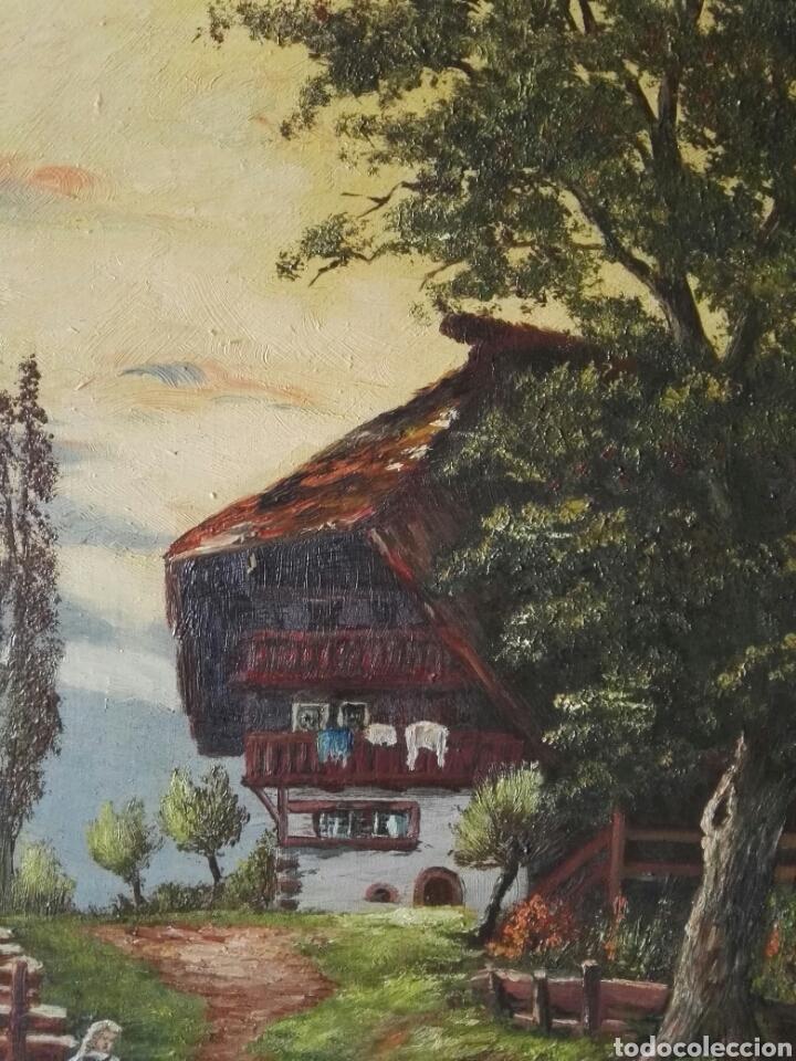 Arte: Cuadro pintura antigua oleo sobre lienzo firma ilegible alemania - Foto 8 - 103773556