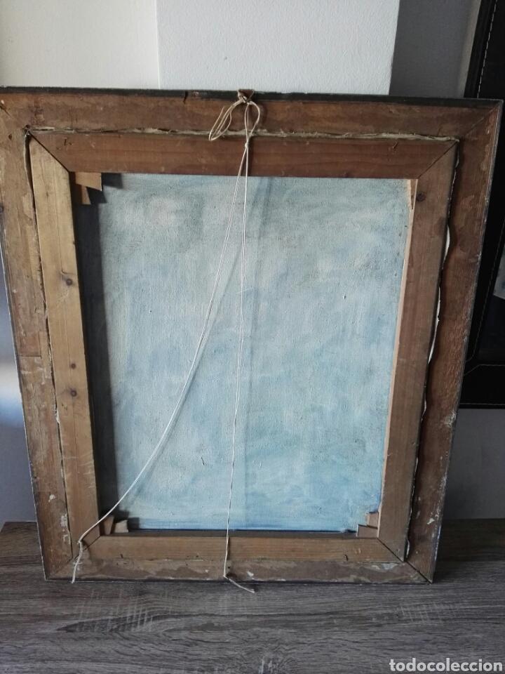 Arte: Cuadro pintura antigua oleo sobre lienzo firma ilegible alemania - Foto 9 - 103773556