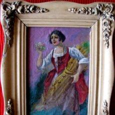 Arte: CAMPESINA. ÓLEO/CARTÓN CIRCA 1930. Lote 103820427