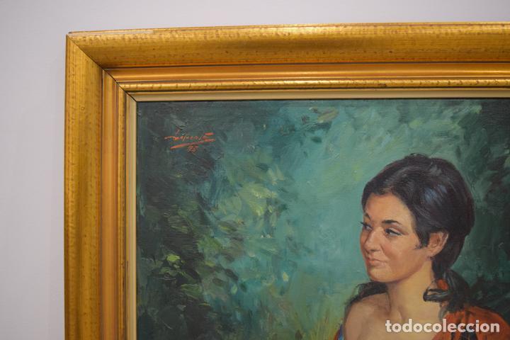 Arte: Retrato de mujer pintado al Óleo sobre lienzo - Foto 2 - 103860579