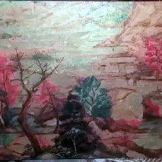 Arte: ACRILICO SOBRE TABLEX , FLOREAL SORIGUERA (EL SURI) PAISAJE OTOÑAL 100X50 DEDICADO. Lote 103948735