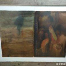 Arte: DÍPTICO DE AVELINO MALLO DE LA EXPOSICIÓN WASTED LAND, FIRMADO Y FECHADO.. Lote 103958999