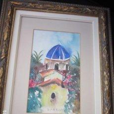 Kunst - acuarela de Altea? enmarcada con firma , MEDIDA 33,5 X 47 - 103962283
