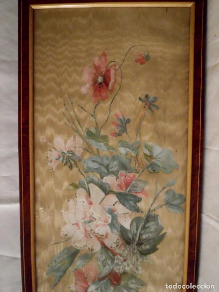 Arte: Antiguo cuadro pintado a mano sobre seda - Foto 4 - 103966911