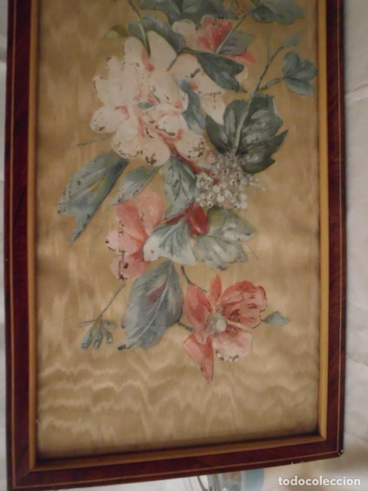 Arte: Antiguo cuadro pintado a mano sobre seda - Foto 5 - 103966911