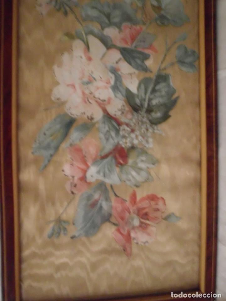 Arte: Antiguo cuadro pintado a mano sobre seda - Foto 6 - 103966911