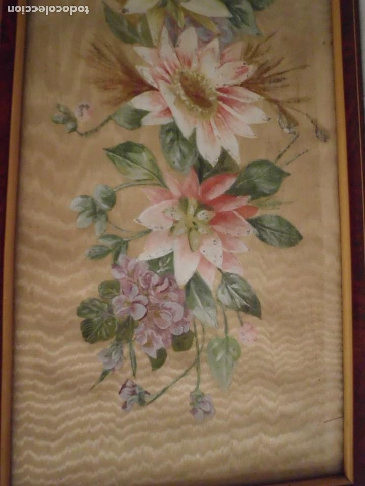 Arte: Antiguo cuadro pintado a mano sobre seda - Foto 7 - 103966911