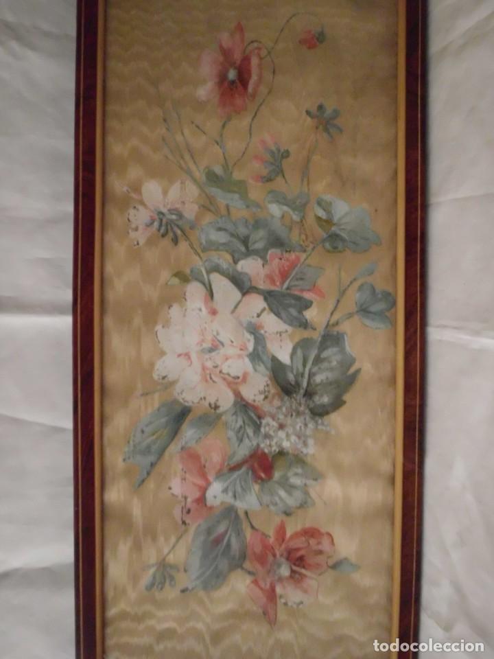 Arte: Antiguo cuadro pintado a mano sobre seda - Foto 2 - 103966911