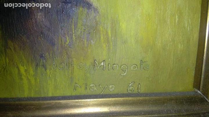 Arte: OLEO ARBOLEDA EN TABLA ENMARCADO MEDIDA: 66 X 51, FIRMADO EN MAYO 61 - Foto 2 - 103968583