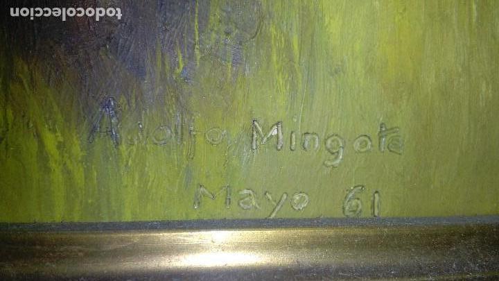 Arte: OLEO ARBOLEDA EN TABLA ENMARCADO MEDIDA: 66 X 51, FIRMADO EN MAYO 61 - Foto 3 - 103968583