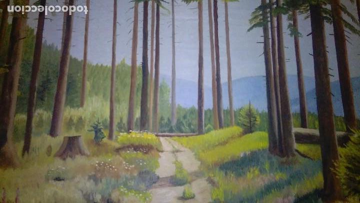 Arte: OLEO ARBOLEDA EN TABLA ENMARCADO MEDIDA: 66 X 51, FIRMADO EN MAYO 61 - Foto 4 - 103968583
