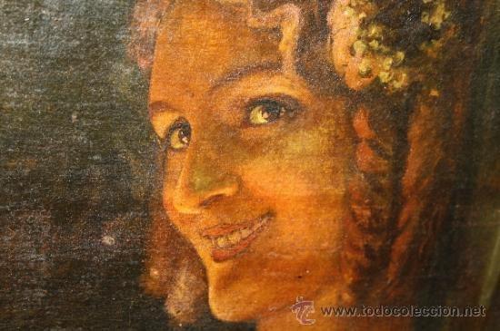 RETRATO DE JOVEN DAMA. ÓLEO SOBRE TELA. ESCUELA CATALANA. ESPAÑA. CIRCA 1850 (Arte - Pintura - Pintura al Óleo Moderna siglo XIX)