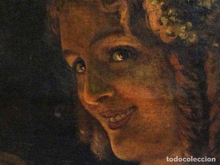 Arte: RETRATO DE JOVEN DAMA. ÓLEO SOBRE TELA. ESCUELA CATALANA. ESPAÑA. CIRCA 1850 - Foto 2 - 102930571