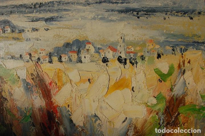 Arte: Deric. Pintura al óleo de 61x61cm.Se ha enmarcado recientemente. En buen estado. - Foto 3 - 103991771