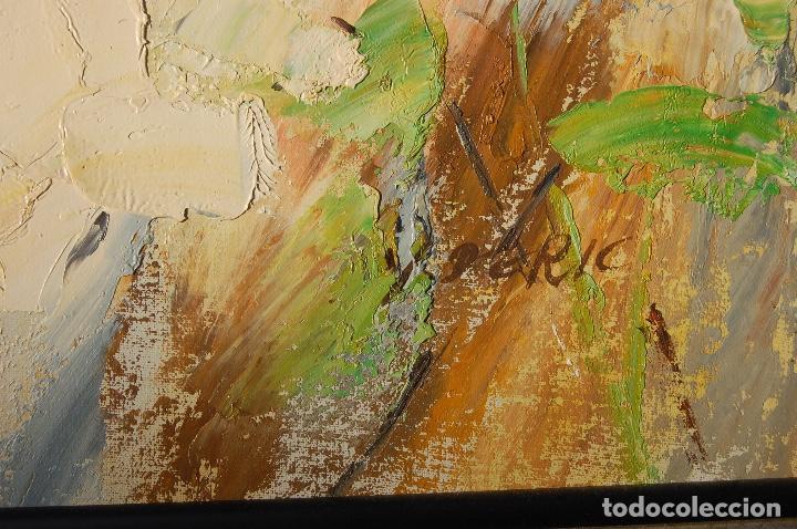 Arte: Deric. Pintura al óleo de 61x61cm.Se ha enmarcado recientemente. En buen estado. - Foto 5 - 103991771