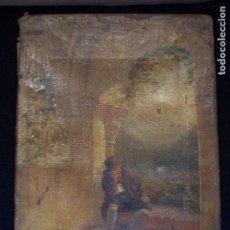 Arte: PINTURA AL OLEO SIGLO XVIII. EL PENSADOR. Lote 103993291