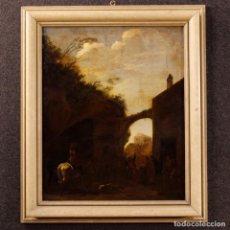 Arte: ANTIGUA PINTURA HOLANDESA DE PAISAJE DEL SIGLO XVIII. Lote 104055839