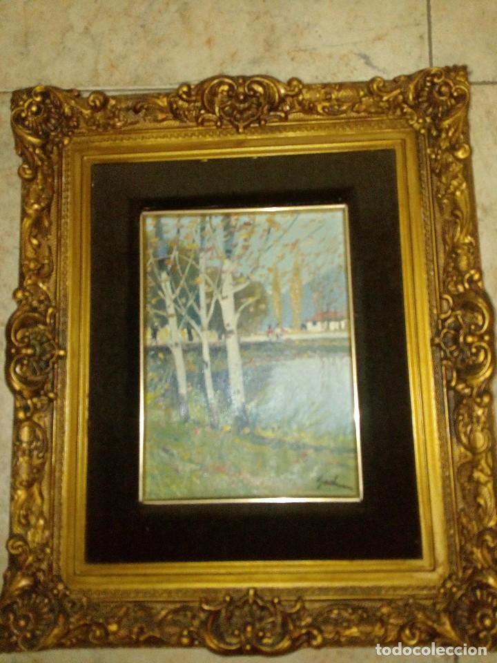 ESCUELA FRANCESA DEL SIGLO XIX. OLEO SOBRE TABLEX (Arte - Pintura - Pintura al Óleo Moderna siglo XIX)