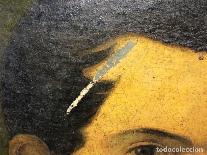 Arte: RETRATO DE CABALLERO. PINTURA. ÓLEO SOBRE LIENZO. ANÓNIMO. ESPAÑA. SIGLO XIX - Foto 7 - 104063479